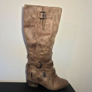 Not Rated Knee High Boots Carmel Color SZ 10